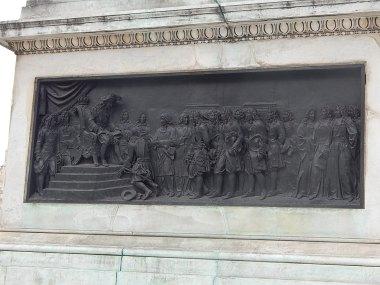 socle statue equestre Louis XIV Place des Victoires