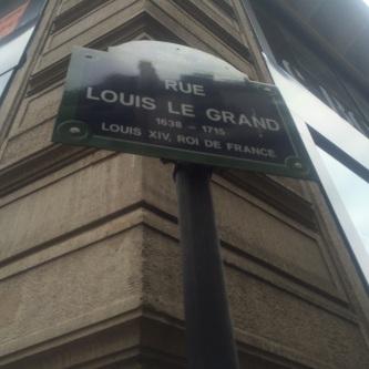 Rue Louis le Grand