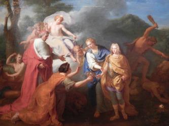 Allégorie à la Reconnaissance du Duc d'Anjou comme Roy d'Espagne