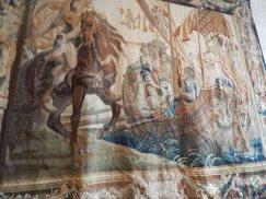 Cette tenture de Marc Antoine et Cléopâtre, initialement composée de huit pièces, Manufacture de Bruxelles, vers 1665.
